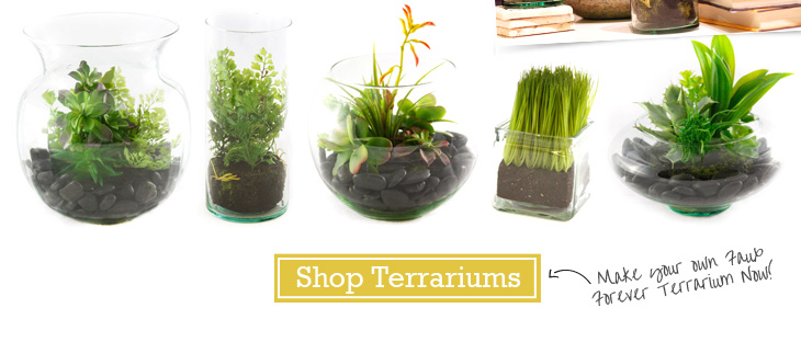 Shop Terrariums - Make your own Faux Forever Terrarium